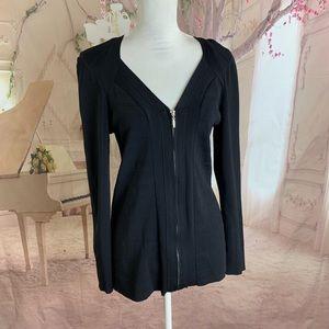 NEW Lane Bryant zipper black cardigan